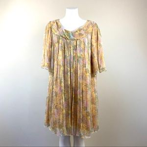 Sara Campbell Silk Chiffon Trapeze Dress Size 8